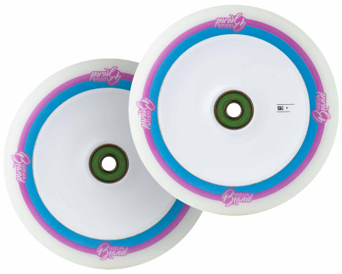 UrbanArtt Original Wheels | 24mm x 120mm | White (Pink/Blue Print)/White | *Blemished*