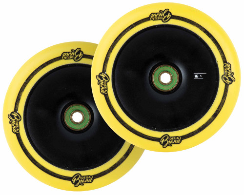 UrbanArtt Original Wheels | 24mm x 120mm | Yellow/Black