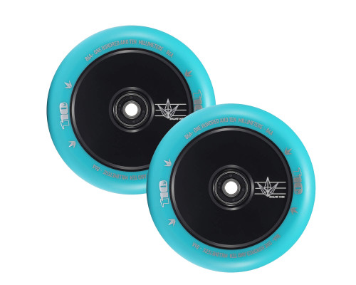 Envy Hollow Core Wheels | 24mm x 110mm | Teal/Black | Pair