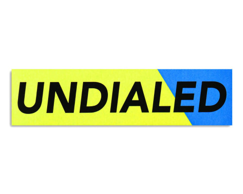 "Undialed Sticker | 1.61"" x 6"" 