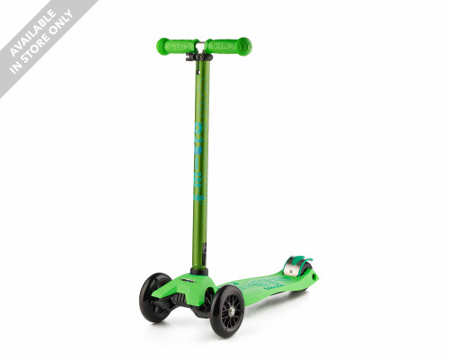Micro Maxi Deluxe Kids 3-Wheel Scooter | Green