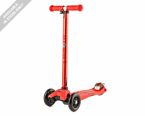 Micro Maxi Deluxe Kids 3-Wheel Scooter | Red