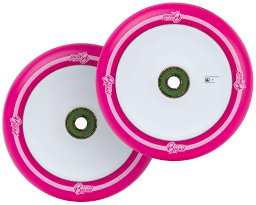 UrbanArtt Original Wheels | 24mm x 110mm | Pink (White Print)/White