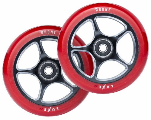 Drone Luxe 2 Wheels | 24mm x 110mm | Red/Gunmetal