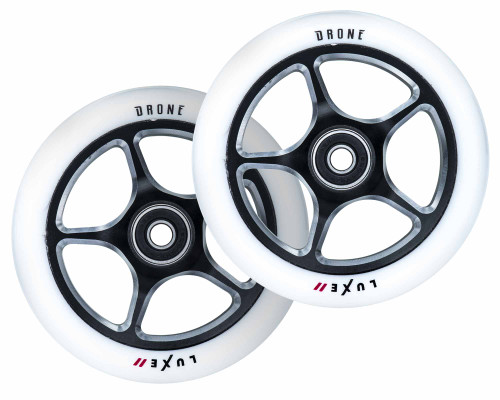 Drone Luxe 2 Wheels | 24mm x 120mm | White/Gunmetal