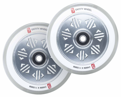 Drone Identity Wheels | 24mm x 110mm | Frosted Clear/Raw