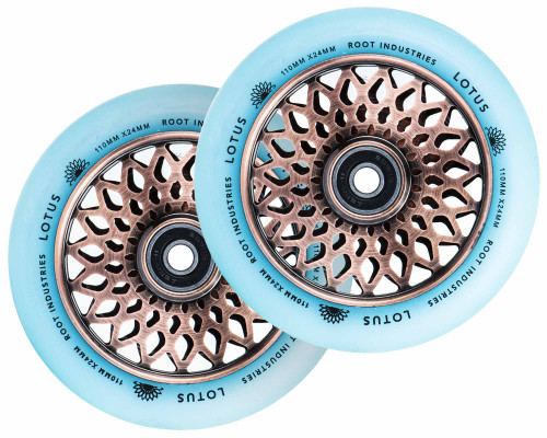 Root Industries Lotus Isotope Wheels | 24mm x 110mm | Glow/Copper