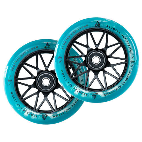 Scooter Hut DNA Wheels | 24mm x 110mm | Clear Blue Marble/Black