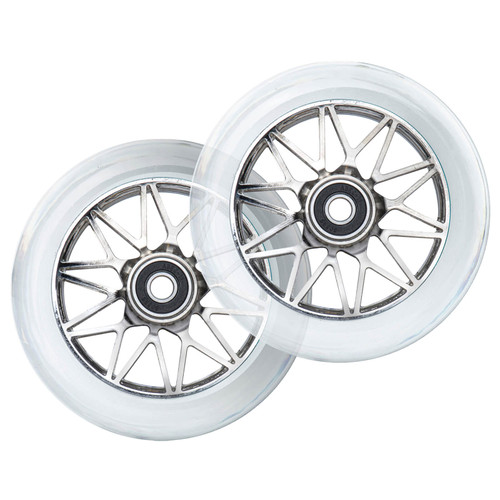 Scooter Hut DNA Wheels | 24mm x 110mm | Clear/Chrome