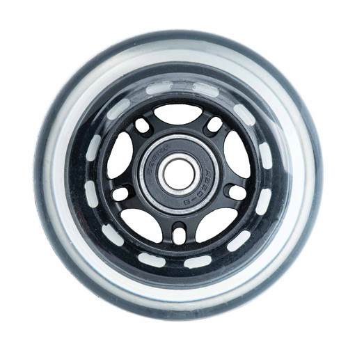 3-Wheel Scooter Replacement Rear Wheel | 24mm x 80mm | Clear/Black