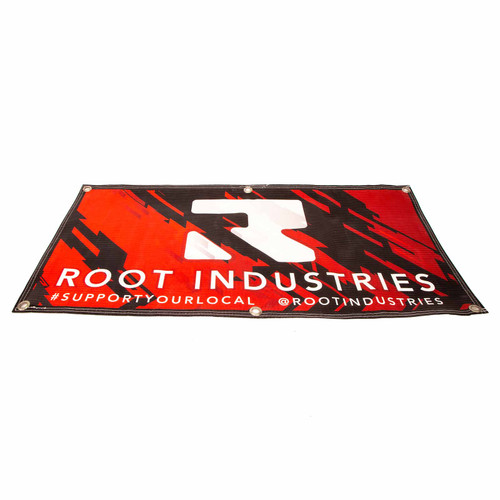 High-density PVC Root Industries 900mm x 450mm Banner