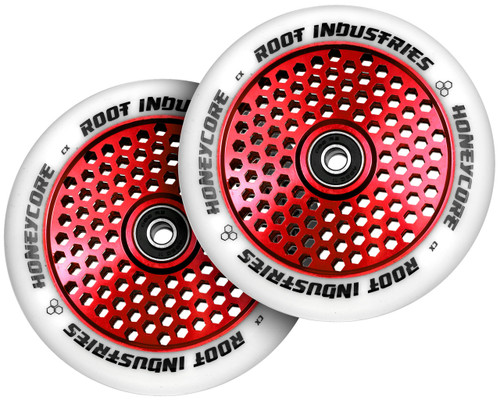 Root Industries HoneyCore Wheels | 24mm x 120mm | White/Red