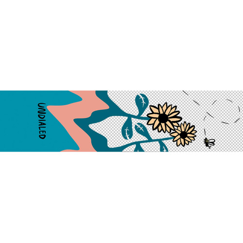 """Undialed Limited Release Griptape   6"""" x 24""""   Flower"""