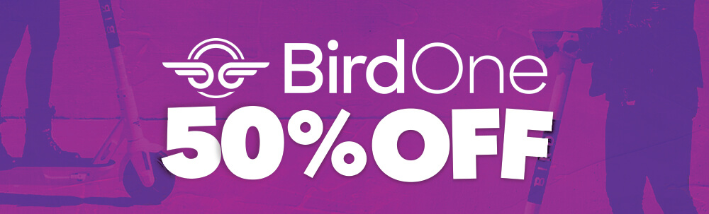 SALE BIRD ONE ELECTRIC SCOOTERS 50% OFF