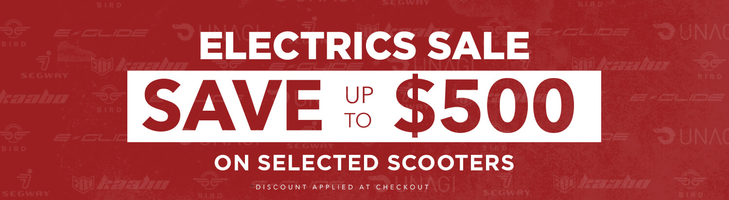 SALE UP TO $500 OFF ELECTRIC SCOOTERS