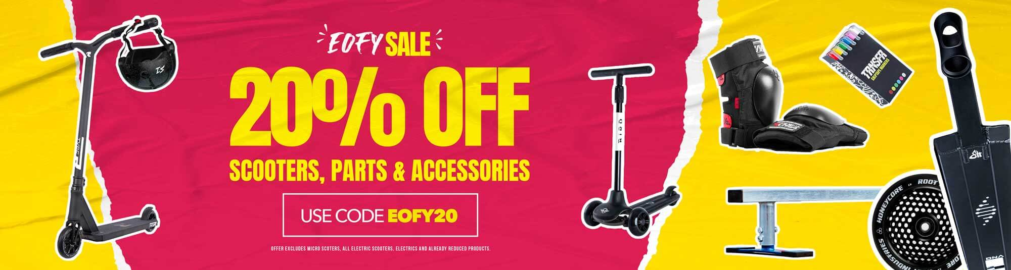 EOFY SALE 20% OFF SCOOTERS PARTS & ACCESSORIES