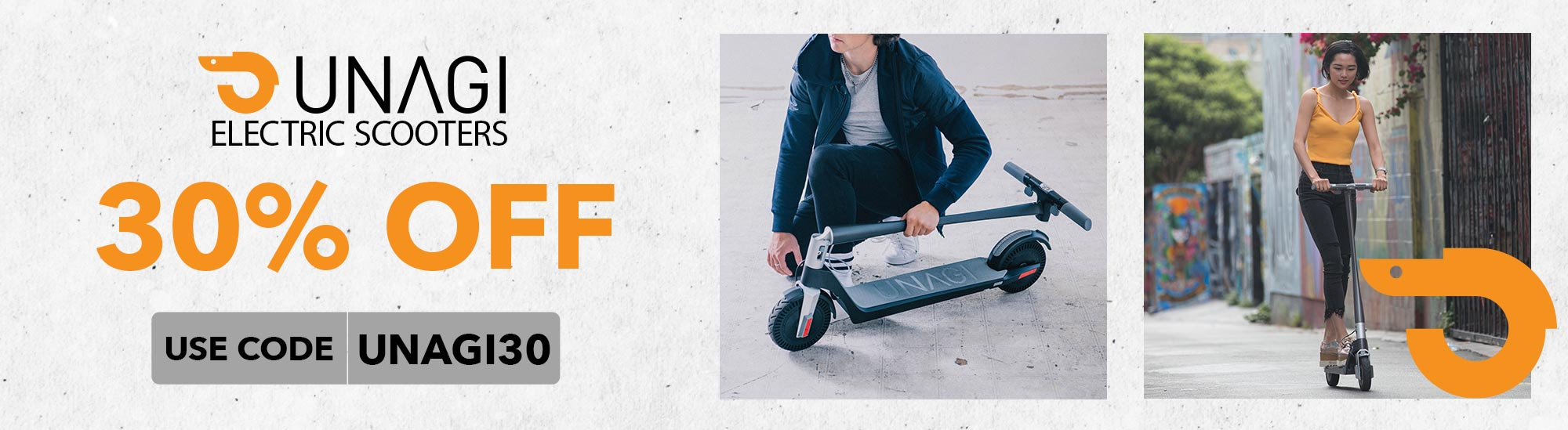 UNAGI ELECTRIC SCOOTERS 30% OFF