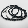 Ouroboros mourning beads - onyx