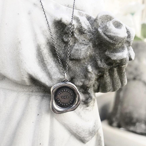 Wax Seal Pendant: 'Betrayed not Conquered'