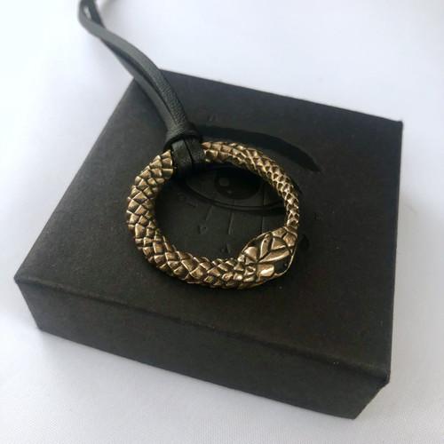 Ouroboros Pendant - Brass & Bronze