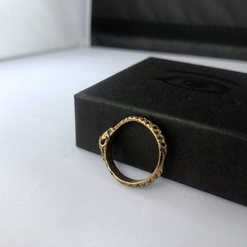 Ouroboros Ring - Brass & Bronze