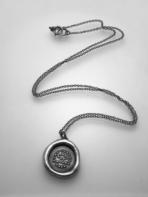 Wax Seal Pendant: 'Tho Lost to Sight'
