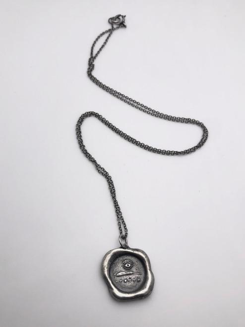 Wax Seal Pendant: 'I Write Truth'