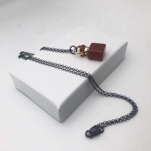 Carnelian vessel pendant