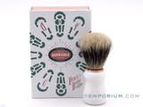 Antiga Barbearia de Bairro Badger Shaving Brush Chiado (White)