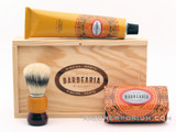 Antiga Barbearia de Bairro Classic Shaving Set Ribeira Porto (Orange) w/ Wood Box