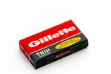 Especial 10 Gillette Delgada Thin - Made in Argentina - Double Edge Razor Blades