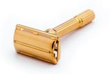 1962 Gillette Slim Aristocrat Adjustable D E Safety Razor 24K Gold Revamp