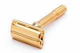 1964 Gillette Slim Aristocrat Adjustable DE  Safety Razor 24K Gold Revamp