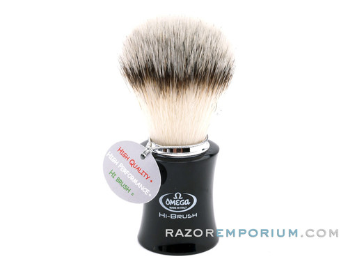 Omega 46818 HI-BRUSH Synthetic Shaving Brush