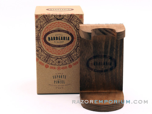 Antiga Barbearia de Bairro Shaving Brush Wooden Holder