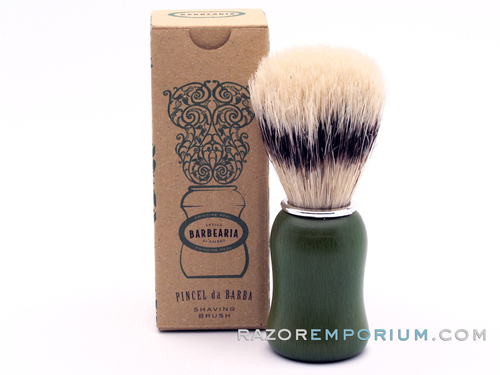 Antiga Barbearia de Bairro Boar Shaving Brush Principe Real (Green)