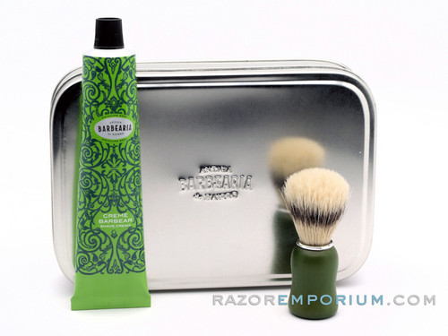 Antiga Barbearia de Bairro Classic Shaving Set Principe Real (Green) w/ Metal Box
