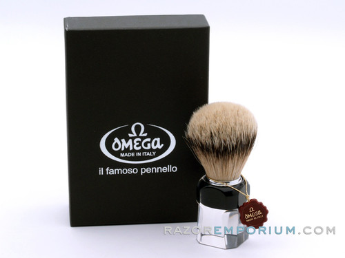 Omega 634 Omega Silvertip Badger Shaving Brush
