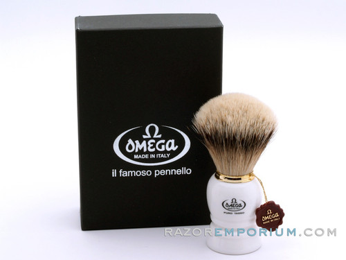 Omega 643 Silvertip Badger Omega shaving brush