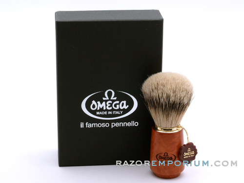 Omega 6144 Silvertip Badger Shaving Brush – Root wood