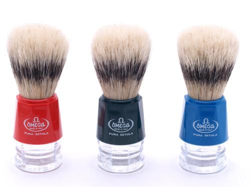 Omega 10218 Pure Bristle Shaving Brush | Badger Effect