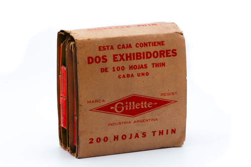 New Old Stock - 100 Gillette Thin Delgada - Made in Argentina - Double Edge Razor Blades