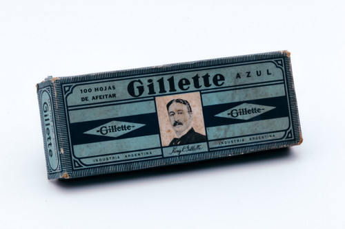 New Old Stock - 100 Gillette Blue Azul - Made in Argentina - Double Edge Razor Blades