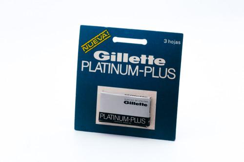 NOS - 3 Gillette Platinum Plus - Made in Argentina - Double Edge Razor Blades