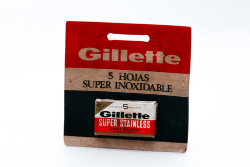 NOS - Gillette Super Stainless - Made in Argentina - Double Edge Razor Blades