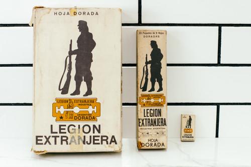 Legion Extranjera Dorada - DE Safety Razor Blades - NOS Gold Argentina