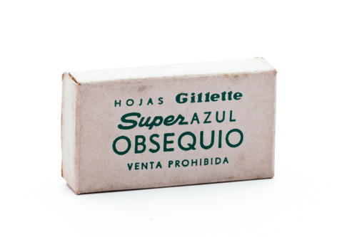 Special Gift NOS Gillette Super Blue Blades - Made in Argentina - Double Edge Razor Blades
