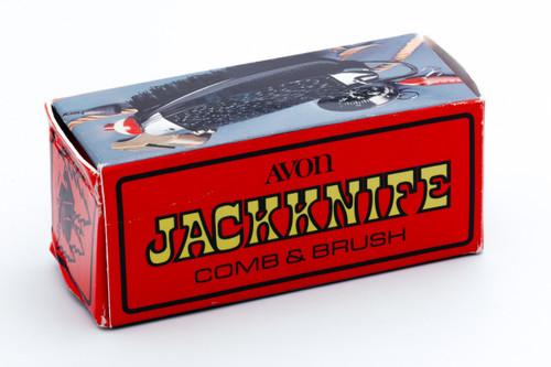Avon Black Jackknife Comb and Brush