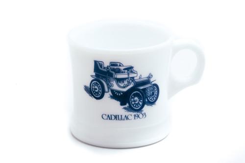 Surrey Milk Glass Shaving Mug - Cadillac 1903