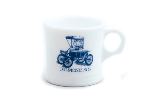 Surrey Milk Glass Shaving Mug - Oldsmobile 1903